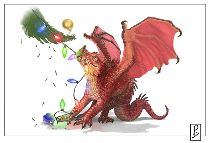 Christmas Dragon By Lyntonlevengood On Deviantart