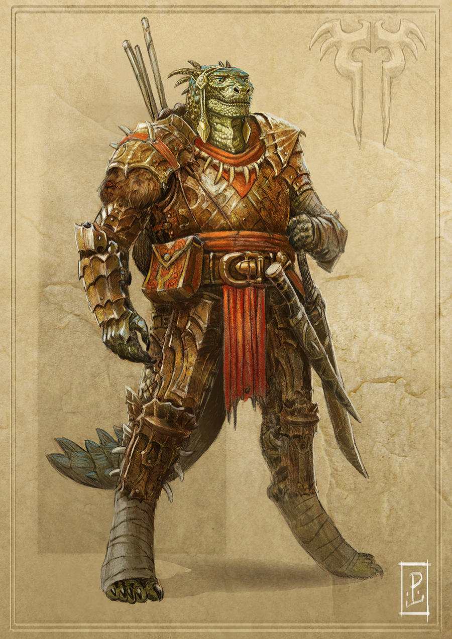 Argonian Warrior by LyntonLevengood