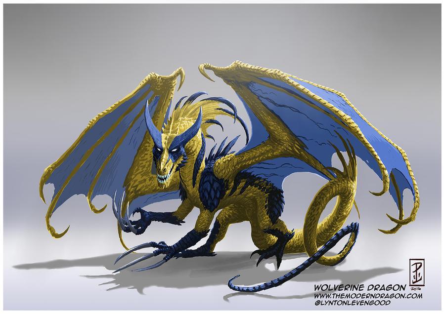 Wolverine Dragon por LyntonLevengood