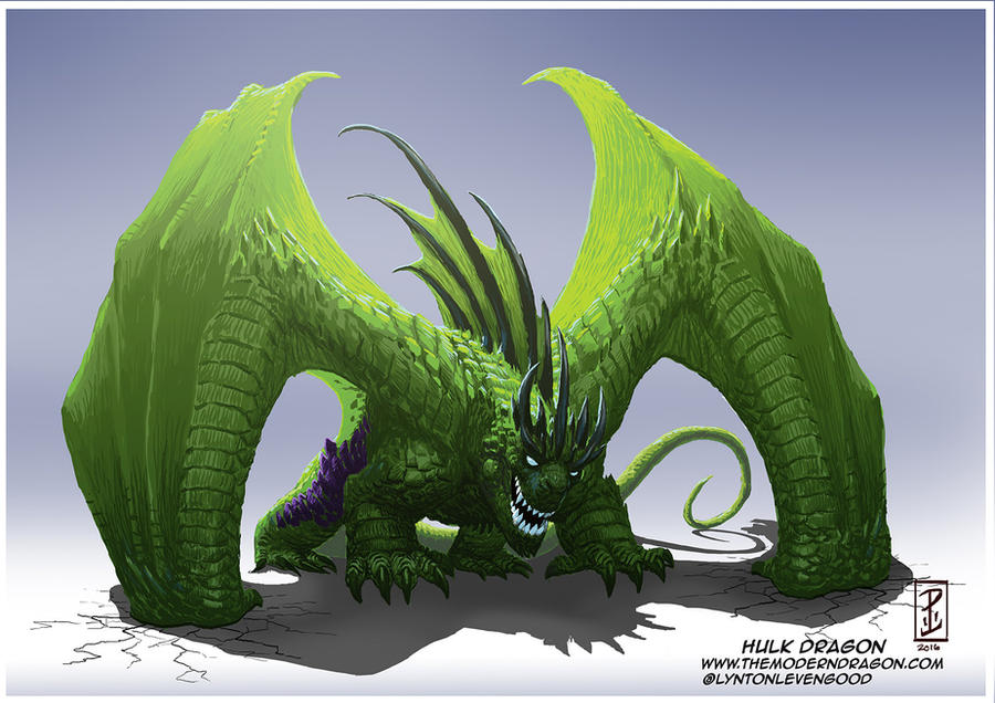 Hulk Dragon!  Por LyntonLevengood