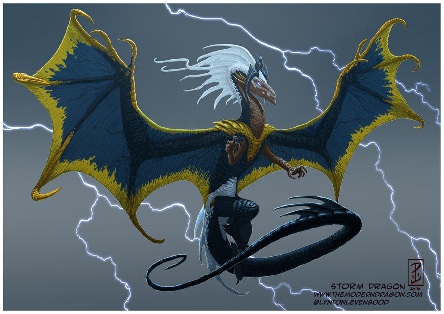 Storm Dragon by LyntonLevengood