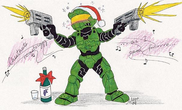 HALO Christmas by Hayai-Akurei