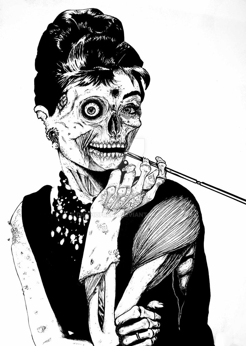 Zombie at Tiffany's by drwhofreak