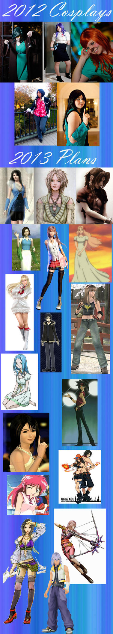 Fayina's 2012 Cosplays + 2013 Plans by 0nSilverWingsX