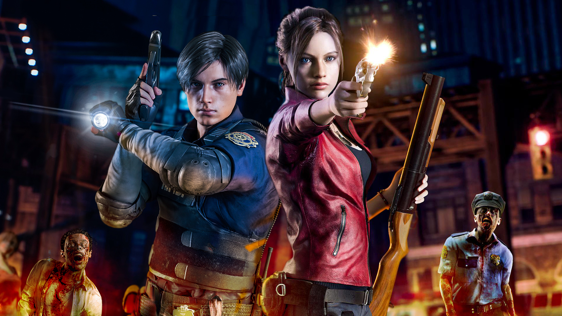 Resident Evil 2 Remake Wallpaper Claire And Leon By Moresense On