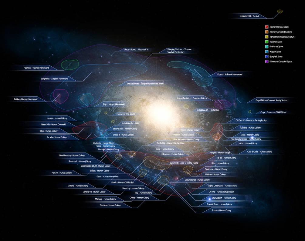 Haloverse: Galactic Map by Halcylon on DeviantArt