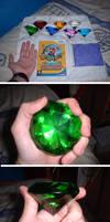 Chaos Emerald Size Comparison by sonikku88