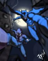 Bat and a spider by JoeMDavis