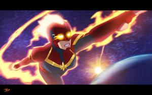 Captain Marvel by JoeMDavis