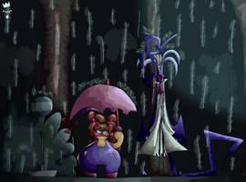 Redraw Totoro scene by PrinceChain