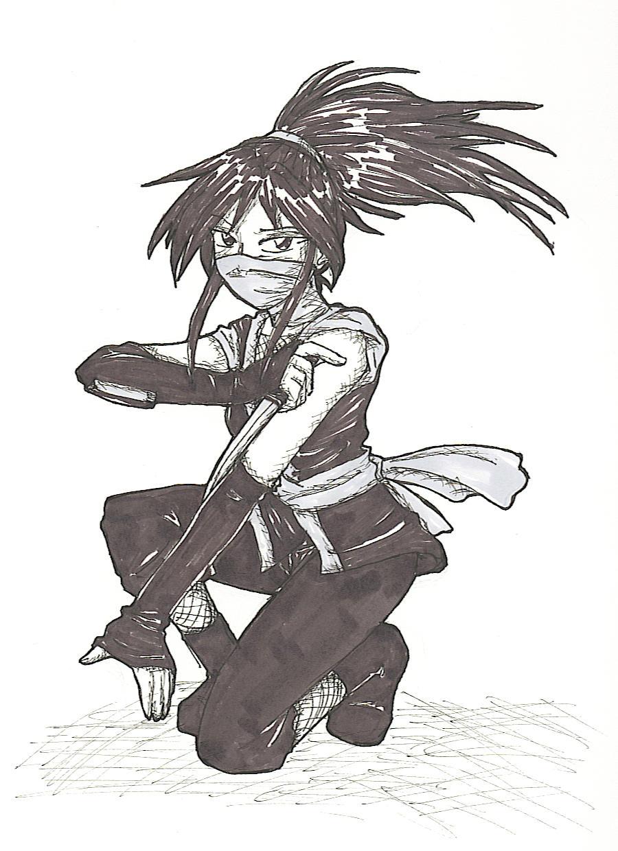 ninja chick by Akutenshi-1790