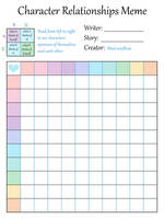 Character Relationships Chart (blank) by MissLunaRose