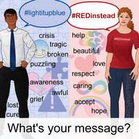 Autism Awareness vs Acceptance by MissLunaRose