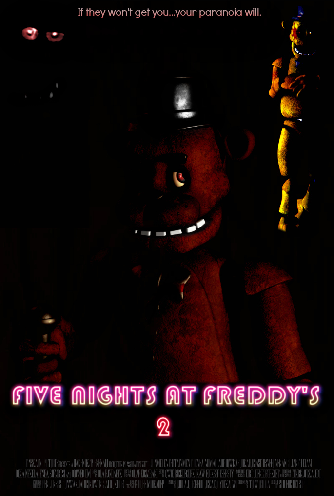 FIVE NIGHTS AT FREDDY'S 2 Video Game Movie Poster by TheDarkRinnegan