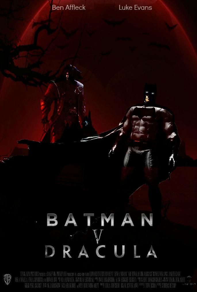 Batman v. Dracula Movie Poster [Fan-Made] by TheDarkRinnegan