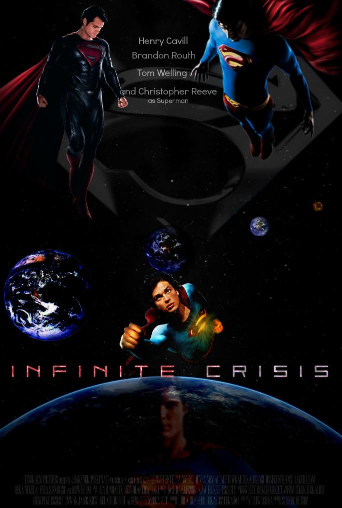 Superman: Infinite Crisis Movie Poster [Fan-Made] by TheDarkRinnegan