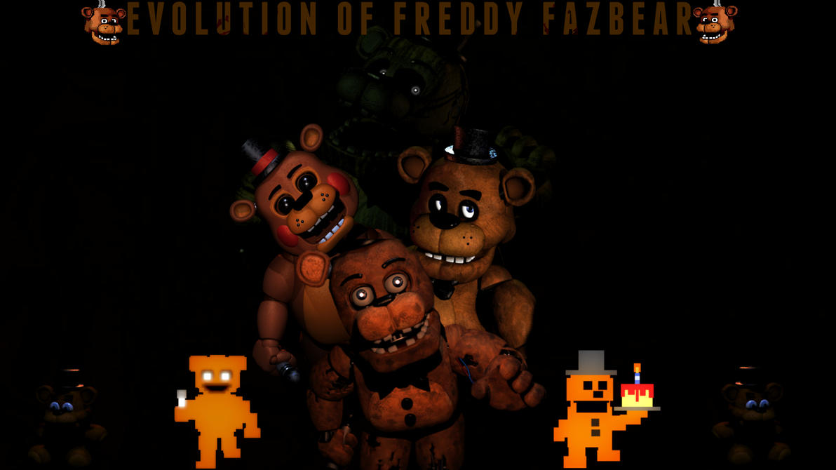 Evolution of Freddy Fazbear Wallpaper 1920x1080 by TheDarkRinnegan