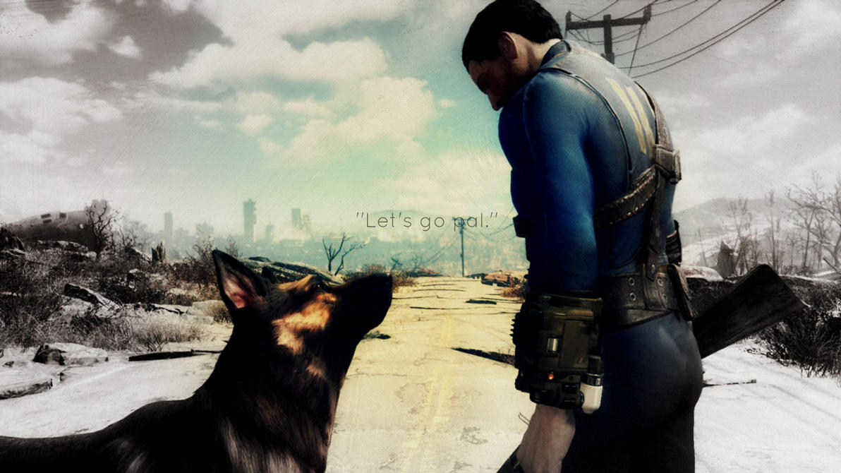 Fallout 4 ''Let's go pal.'' Wallpaper 1920 x 1080 by TheDarkRinnegan