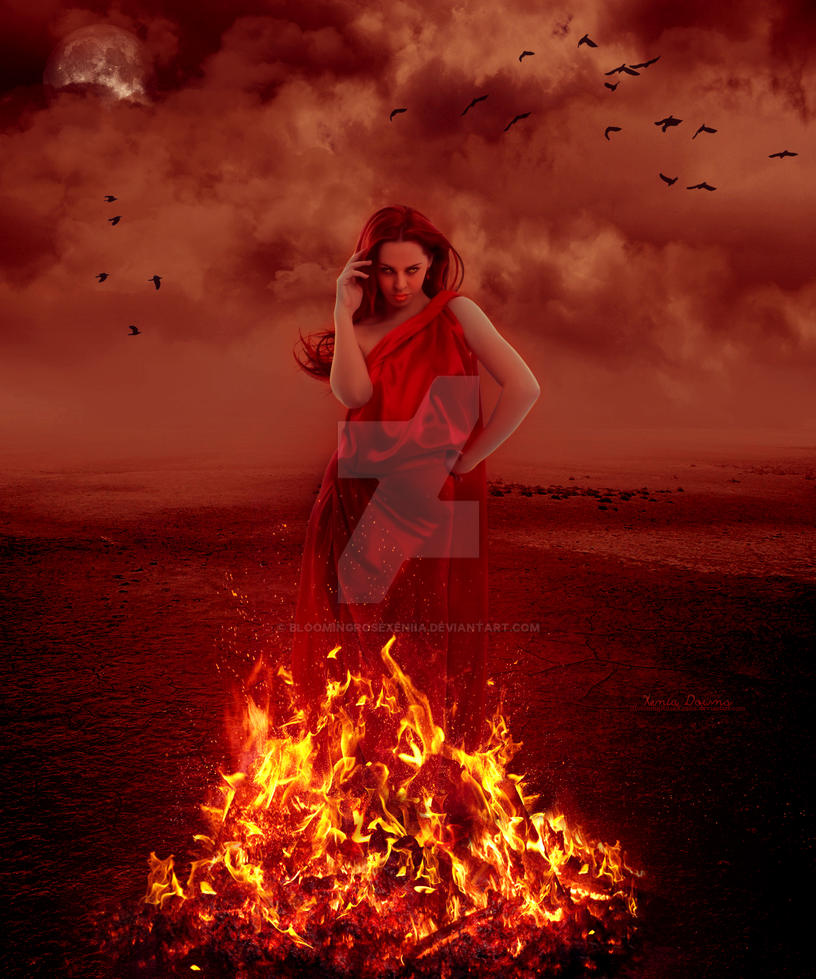 fire goddess by bloomingrosexeniia on deviantart. Black Bedroom Furniture Sets. Home Design Ideas