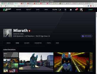 My profile look and feel under eclipse by Miarath