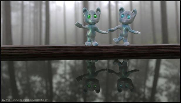 Cuteness in the Misty Forest