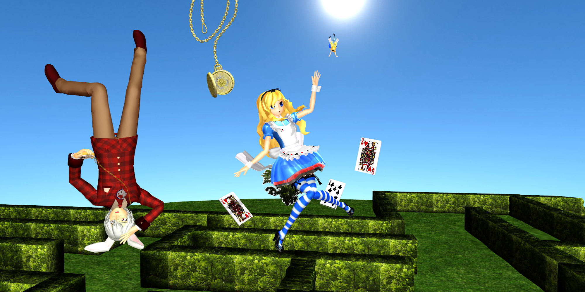 3d mmd bunny alice loves to squat