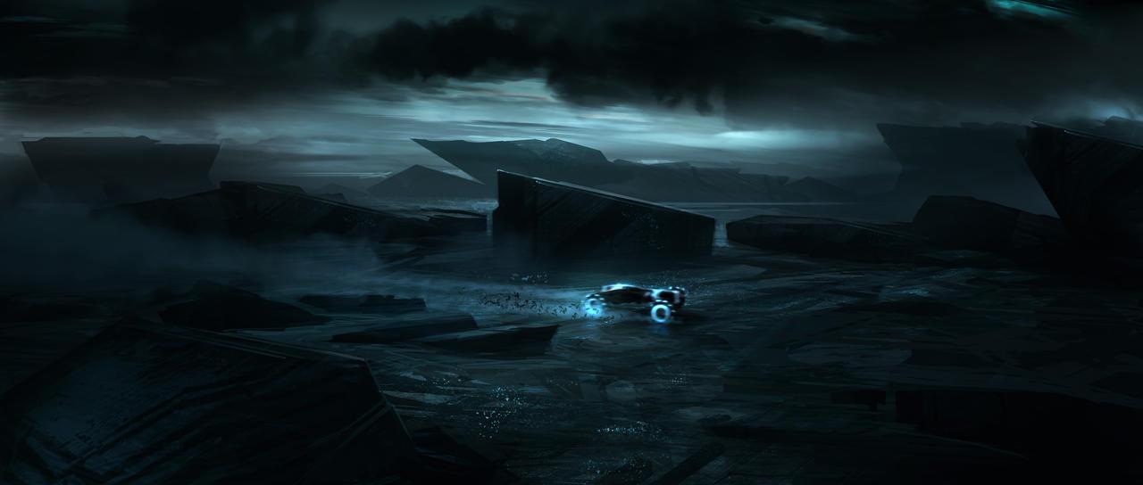 Tron Legacy Rock Research by vyle-art