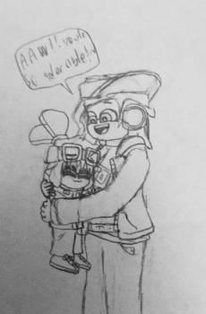 Benni hugs mini me