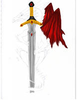 Dragon and Sword WIP 2 by NovaDrakkon