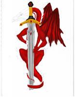 Dragon and Sword WIP 3 by NovaDrakkon