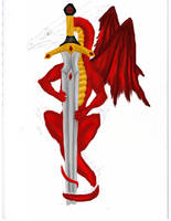 Dragon and Sword WIP 4 by NovaDrakkon