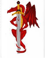 Dragon and Sword WIP 5 by NovaDrakkon