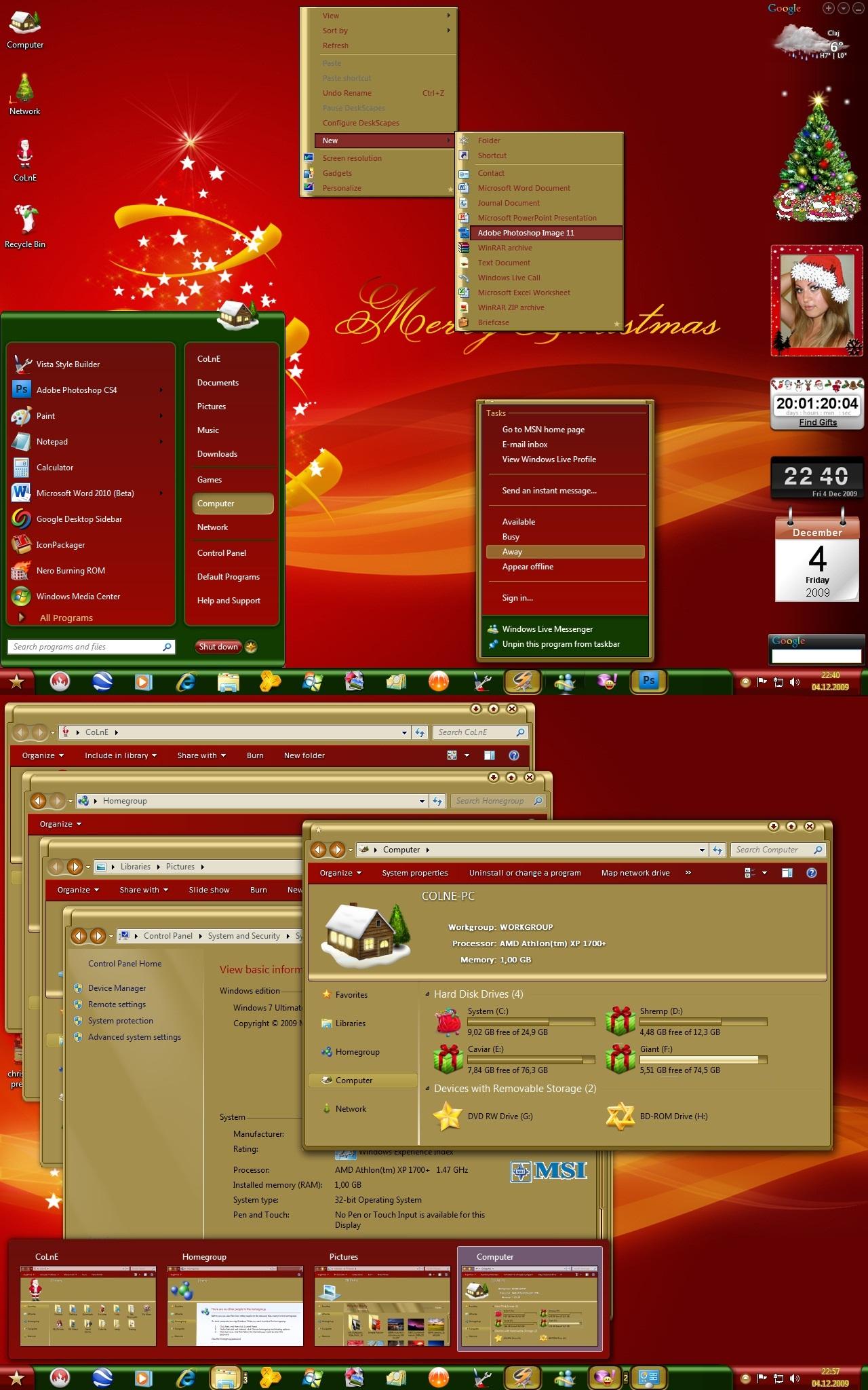 Christmas Holidays for Windows 7