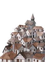 Medieval village by madartia