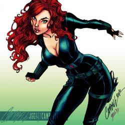 Black Widow - colors by gabcontreras