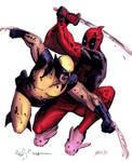 Deadpool vs Wolverine - colors