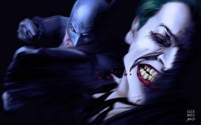 Batman vs. the Joker - colors by gabcontreras