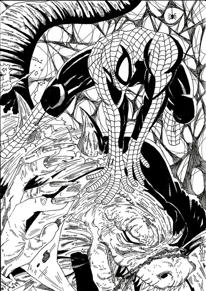Spidey VS. Lizard by Ramushanorak