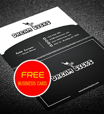 Free Corporate Simple Business Card by rakibsarowar