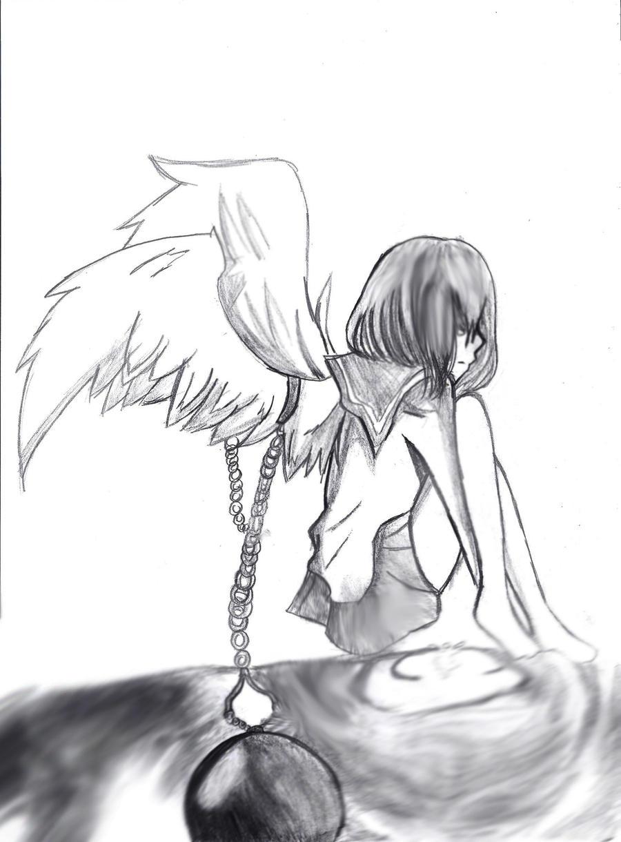 Broken Hearts With Wings Drawings