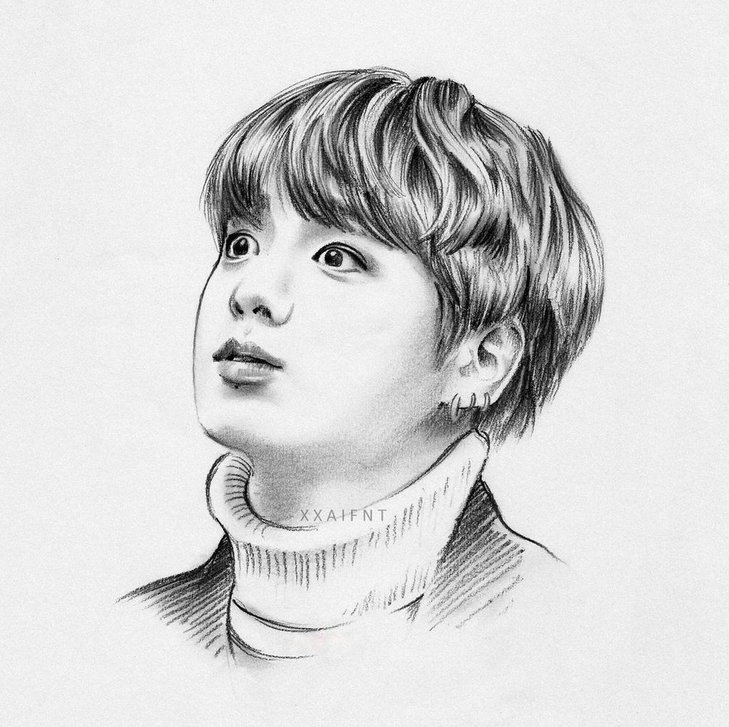 Jungkook Bts Drawings: Jeon Jungkook Fanart By Xxaifnt On DeviantArt