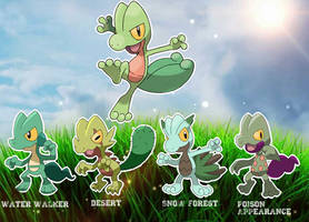Treecko variations by OrialRegion