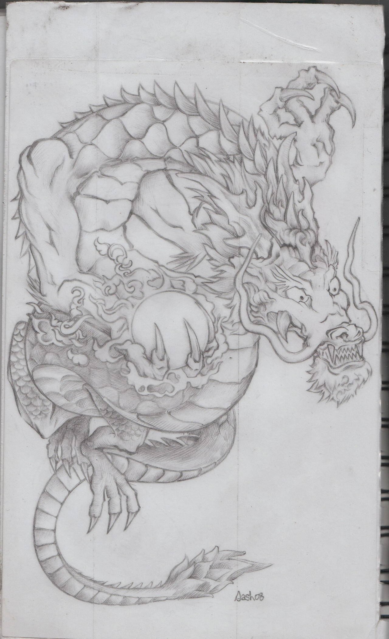 tiger-dragon tattoo, step 2. by Cericle