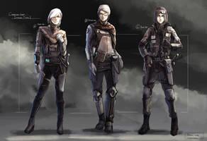 Scifi girl design by Aisxos