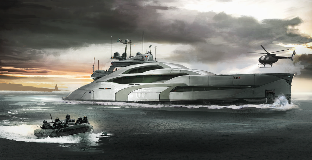 Spy yacht by Aisxos
