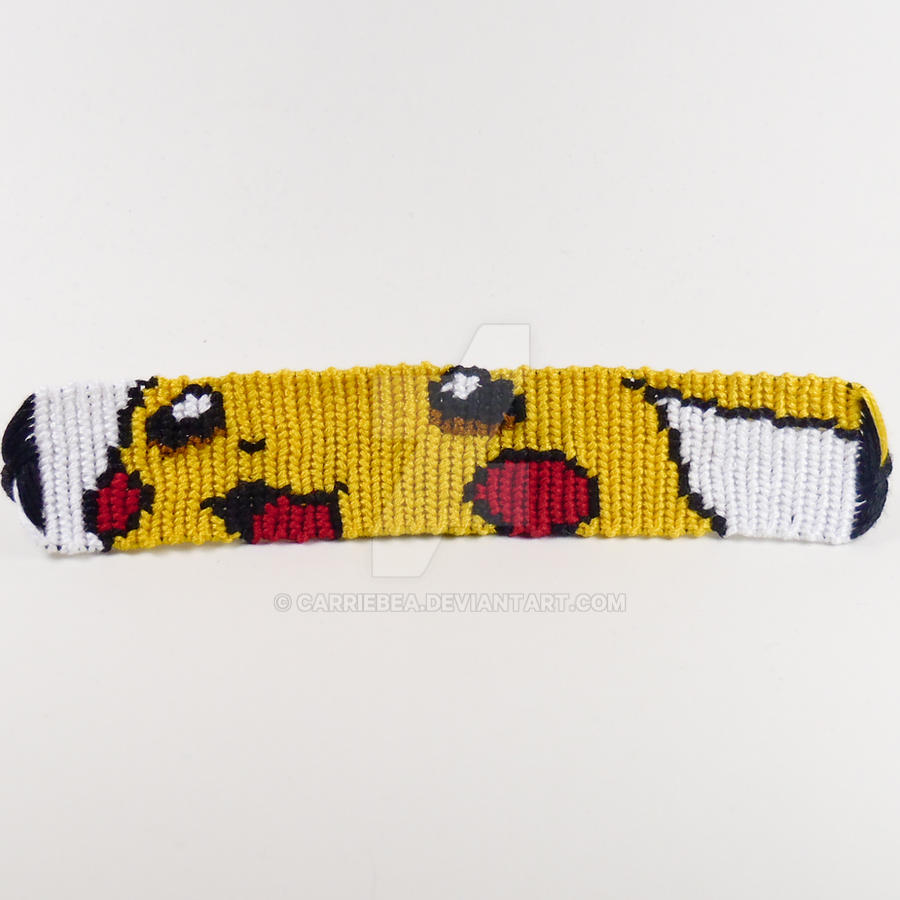Pikachu 1 Inch Friendship Bracelet By Carriebea