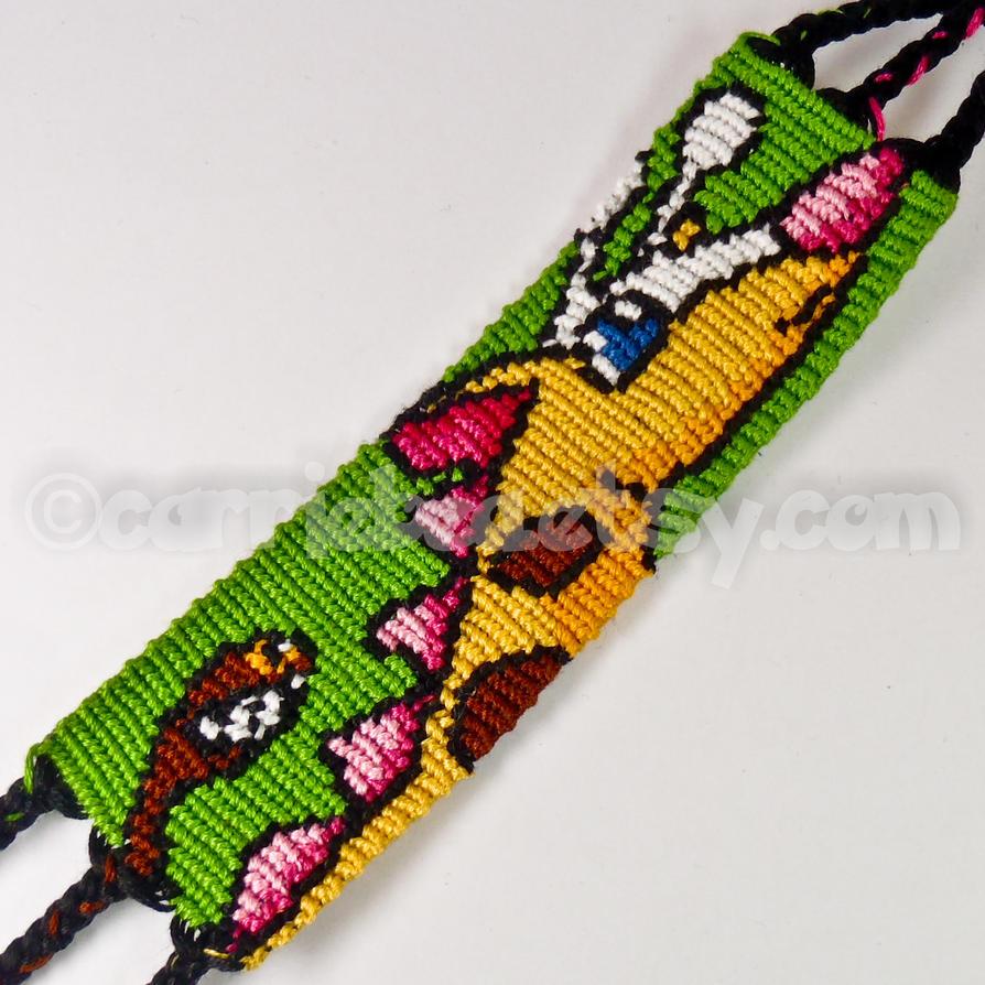 Girafarig 1.5 inch Friendship Bracelet by CarrieBea