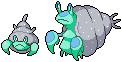 Daily Fakemon Day 17 - Barnacrab by mjco
