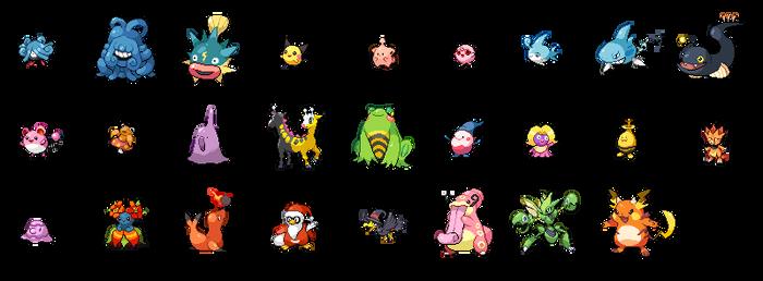 Beta Pokemon Sprite Sheet - Updated