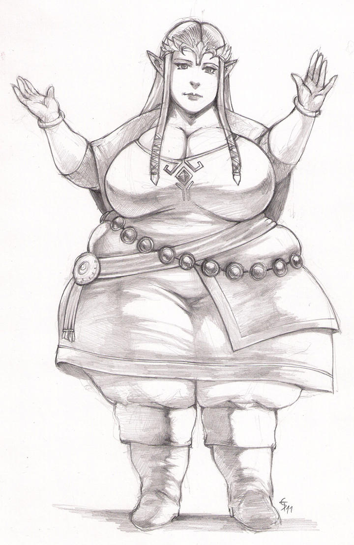 Fat Zelda by murdelli